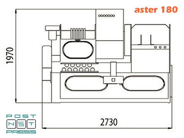 план-схема Astronic/Aster 180 (Meccanotecnica)