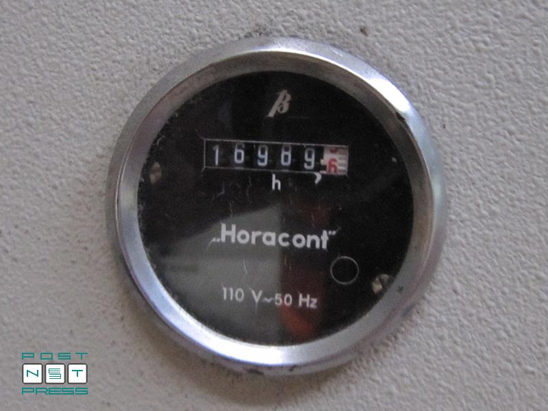 количество наработанных часов Bobst Autoplatine SP 102-CER