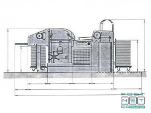 установочный чертеж штанцавтомата Bobst SP-900