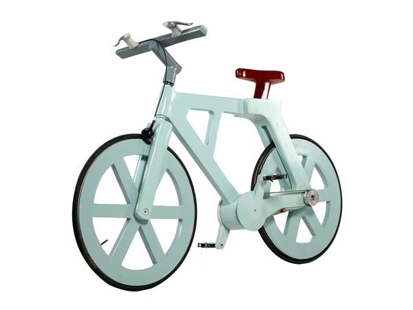 велосипед склеенный из гофрокартона (cardboard bike)