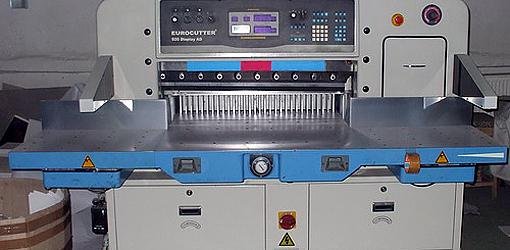 бумагорезательная машина Eurocutter 920 AD, Германия (2007 г.в.)