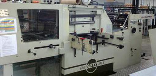 Пресс для припрессовки фольги Gietz FSA 790 S