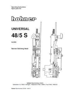руководство пользователя и каталог запчастей Hohner Universal 48/5