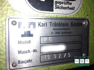 заводской шильдик Karl Tranklein RG (год выпуска)