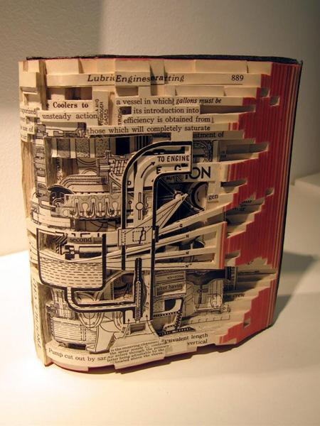 книга-скульптура Брайана Деттмера (Brian Dettmer, USA)