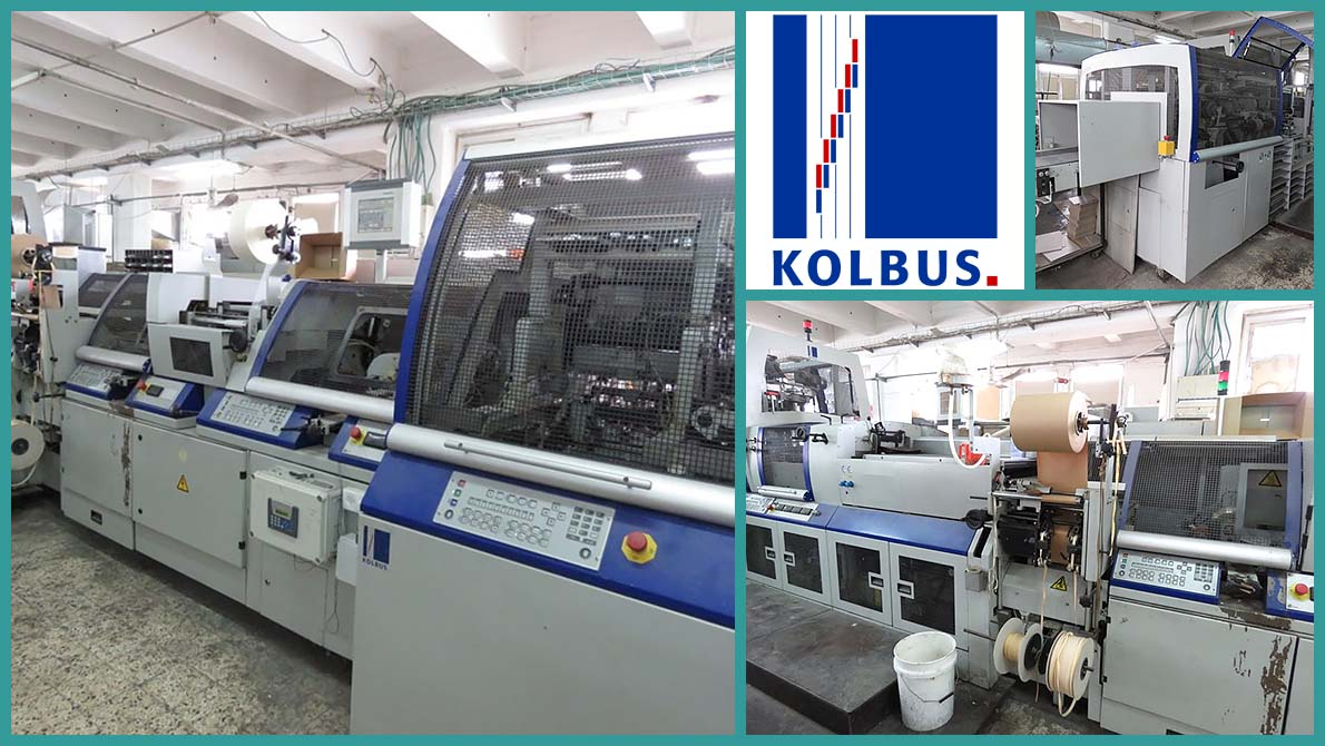 hard cover casing-in line Kolbus BF-511 (2005)