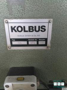 заводской шильдик (серийный номер, год выпуска) Kolbus DA-36