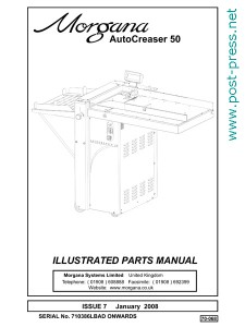 каталог запчастей Morgana Autocreaser 50 (parts manual)