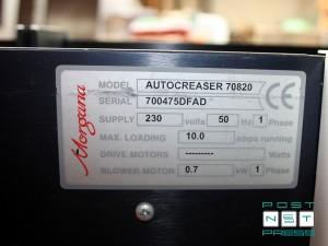 шильдик Моргана AUTOСREASER 33 (серийный номер)