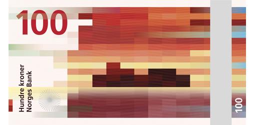 Новый абстрактный дизайн норвежской кроны (2017 год)