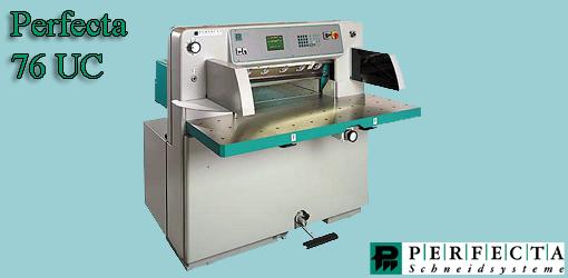 одноножевая бумагорезательная машина Perfecta 76UC