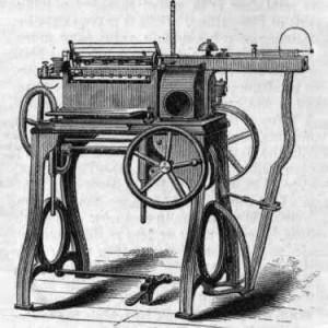 первая ниткошвейная машина Смита, 1865 год