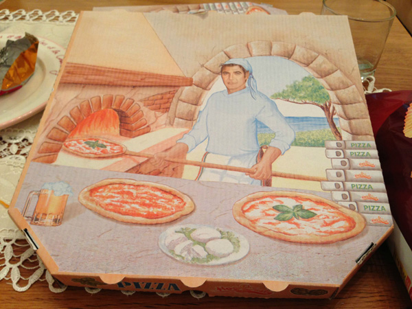 гофрокартонная коробка для пиццы с полноцветной офсетной печатью