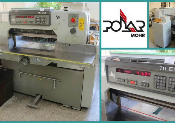 used paper guillotine POLAR 76 EM (1994)