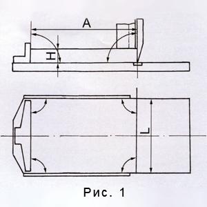 геометрические параметры стола бумагорезательной машины
