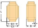 коробка со складывающимися боками