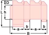 складная коробка с самоскладным (перекрестным) дном