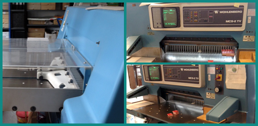 одноножевая бумагорезальная машина Wohlenberg 92 MCS-2 TV, 1991 год выпуска