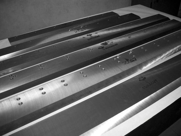 ножи для бумагорезальных машин (новые, б/у, под заказ)